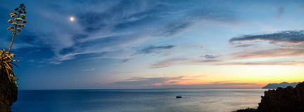 Beautiful romantic seascape from Riomaggiore Royalty Free Stock Image