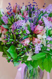 Beautiful romantic spring bouquet of flowers in a vase Stock Photos