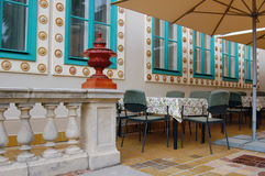 Beautiful romantic terrace Royalty Free Stock Photos
