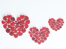 Beautiful romantic Valentine`s day greeting gift card - 3D render Stock Images