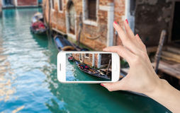 Beautiful romantic Venetian scenery Stock Photography