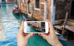 Beautiful romantic Venetian scenery Stock Photo