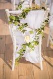 Beautiful Romantic Wedding Ceremony Decorations. Set up stock images