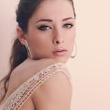 Beautiful romantic woman looking passion. Closeup Royalty Free Stock Photography