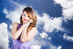Beautiful Romantic Woman In Love Heart Romance Royalty Free Stock Photography
