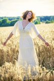 Beautiful Romantic Woman Outdoors Royalty Free Stock Image