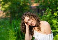 Beautiful romantic woman stock images