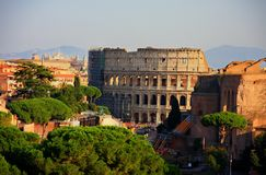 Beautiful Rome with coloseum in the centre Royalty Free Stock Image