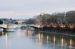 Beautiful Rome on the Tiber Stock Photo