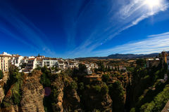 Beautiful Ronda. In Andalucia, Spain. It´s famous for it´s huge bridge Stock Images