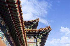 Beautiful roof of Imperial Palace. In Forbidden City at Beijing, China Stock Photography