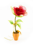 Beautiful rose. Made from strand and stockings Royalty Free Stock Image