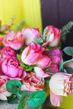 Beautiful rose of artificial flowers Royalty Free Stock Photo