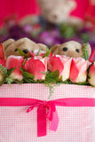 Beautiful of rose artificial flowers Royalty Free Stock Photo