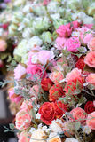 Beautiful rose of artificial flowers Stock Image