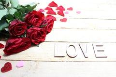 A beautiful rose border stock photo