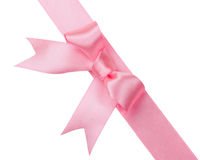 Beautiful rose bow on white background Royalty Free Stock Photography