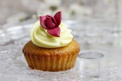 Beautiful rose cupcake Royalty Free Stock Photo