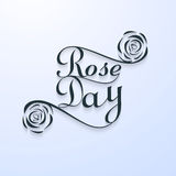 Beautiful Rose day typography text for valentine week  Stock Photo