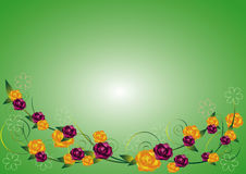 Rose background. Beautiful rose with green backgroung royalty free illustration