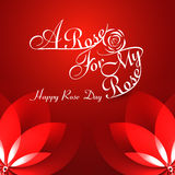 Beautiful A rose for my rose happy rose day typography Royalty Free Stock Photography