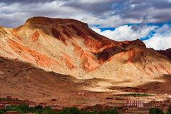 The beautiful Rose Valley - Vallee des Roses, near Ouarzazate, Morocco stock images