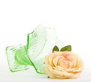 Beautiful rose with vase Royalty Free Stock Image
