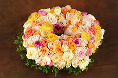 Beautiful rose wreath Stock Photos