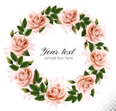 Beautiful rose wreath. Stock Image