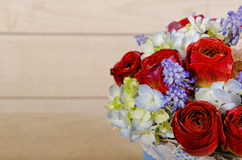 Beautiful roses bouquet Stock Photo