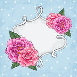 Beautiful Roses Frame Card Stock Photography