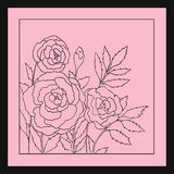 Beautiful roses isolated on soft pink background. Hand drawn vector illustration with flowers. Royalty Free Stock Photo