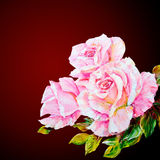 Beautiful Roses, oil painting on canvas Royalty Free Stock Images