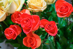 Beautiful roses for sale Stock Photo