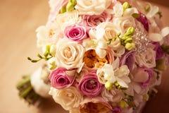 Beautiful roses wedding bouquet. Capture of Beautiful roses wedding bouquet Royalty Free Stock Photo
