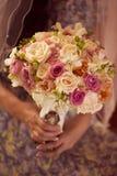 Beautiful roses wedding bouquet. Capture of Beautiful roses wedding bouquet Stock Photography