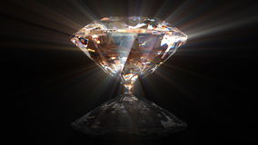 Beautiful rotating diamond Stock Images