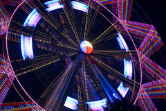 Beautiful rotating Ferris wheel at night Royalty Free Stock Images