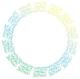 Beautiful round floral frame with gradient fill.  Raster clip ar Stock Photos