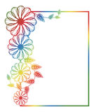 Beautiful round floral frame with gradient fill. Raster clip art. Royalty Free Stock Images