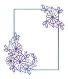 Beautiful round floral frame with gradient fill. . Raster clip art. Stock Images