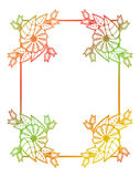 Beautiful round floral frame with gradient fill.  Raster clip art. Stock Images
