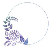 Beautiful round floral frame with gradient fill.  Raster clip art. Stock Photography