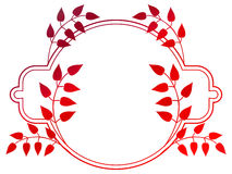 Beautiful round floral frame with gradient fill.  Raster clip art. Royalty Free Stock Photo