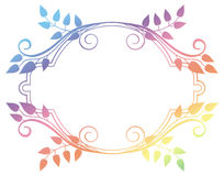 Beautiful round floral frame with gradient fill.  Raster clip art. Royalty Free Stock Photos