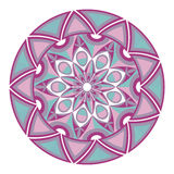 Beautiful round geometric ornament. Stock Images