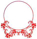 Beautiful round gradient frame. Raster clip art. Royalty Free Stock Photos