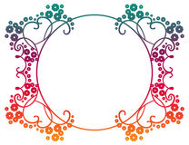 Beautiful round gradient frame. Raster clip art. Royalty Free Stock Photography