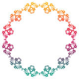 Beautiful round gradient frame. Raster clip art. Stock Photos
