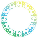 Beautiful round gradient frame. Raster clip art. Stock Photography